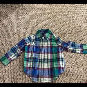 Polo Ralph Lauren Plaid Flannel Baby Boy Shirt 12m